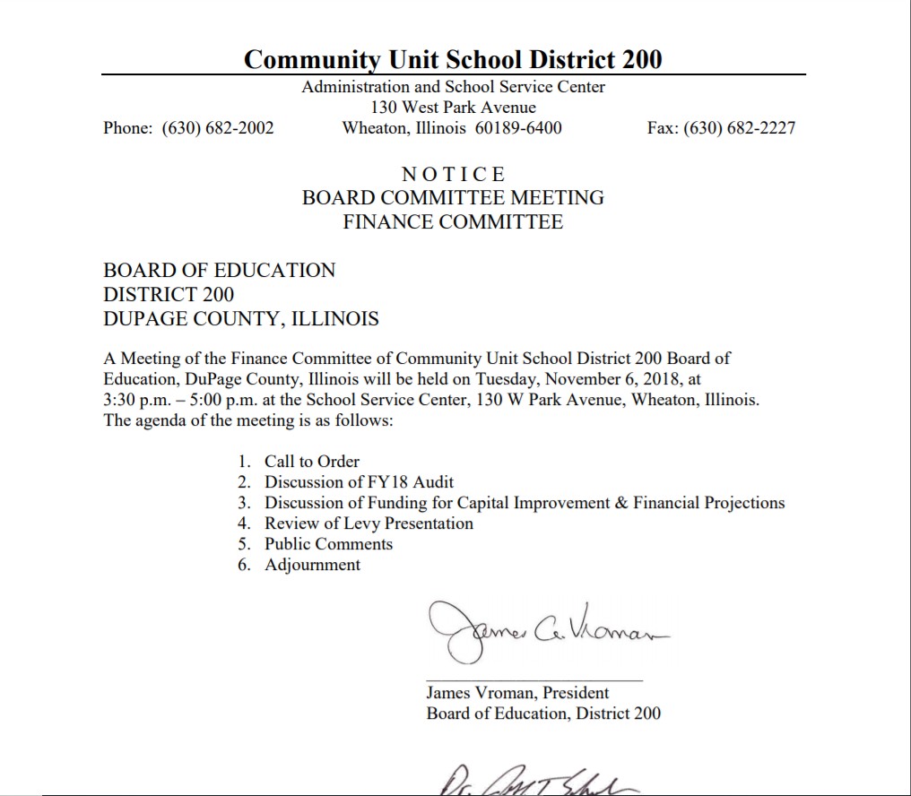 finance meeting 11_6_2018_notice
